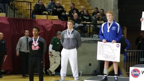 Feb. 21 - Senior Jared McKindley places 4th of the 160 weight class in Missouri.