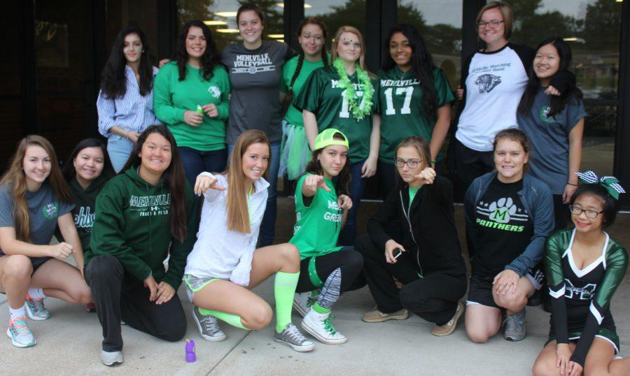 MHS Spirit Week: Green & White Day