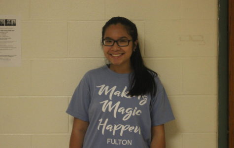 Tran sporting her Student Council camp t-shirt.
