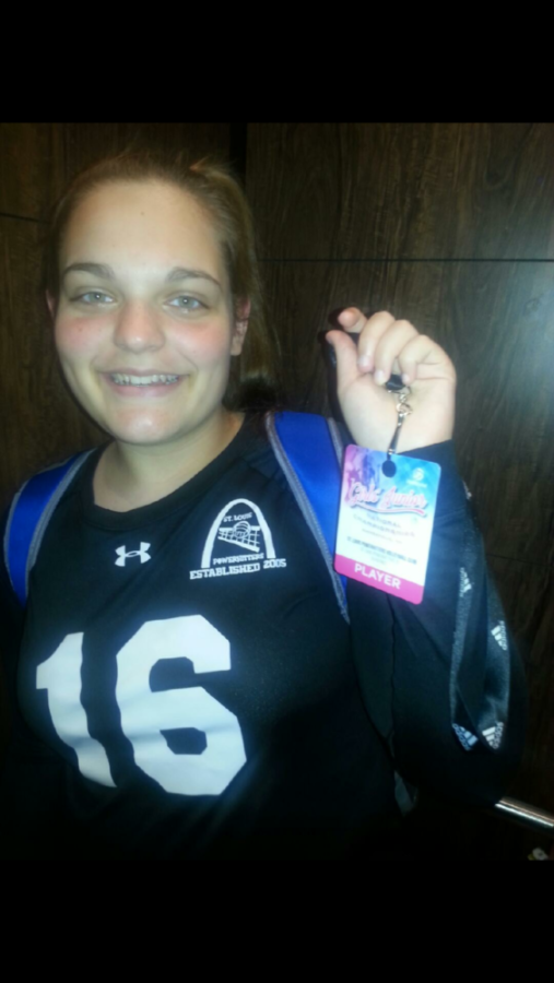 Kayla Jarrett at Nationals for volleyball with her team the St. Louis Powerhitters