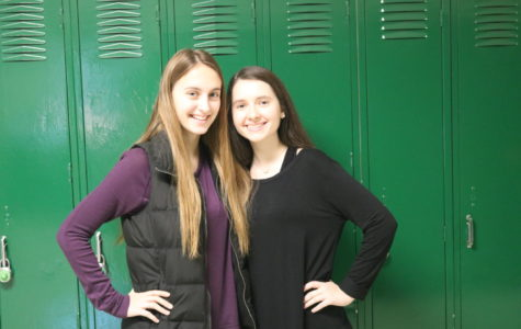 Ajla Mujkic (right) who is captain of the debate team and her partner Ajla Babic (left