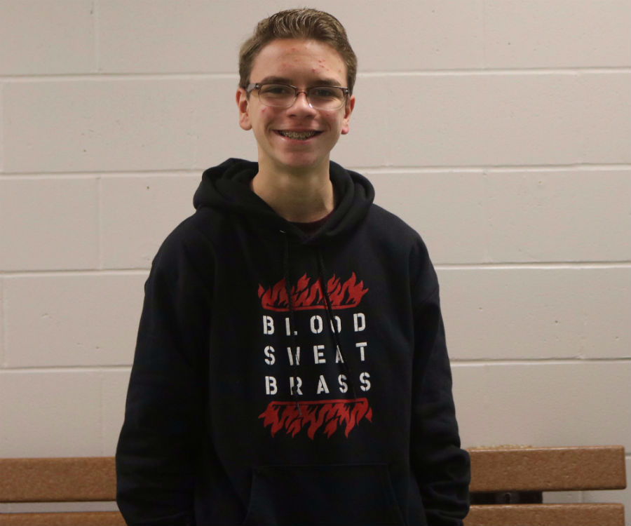 Noah Faulkner, a sophomore at MHS, being his friendly self.