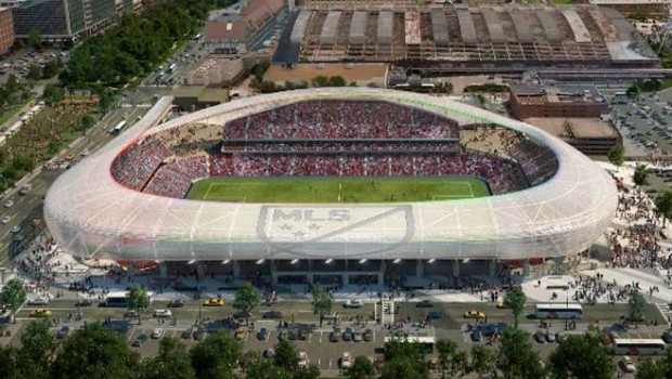 Future layout for MLS stadium in St. Louis