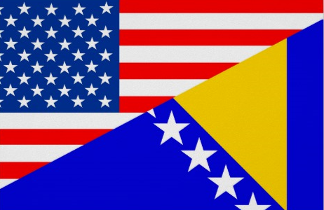 Graphic of American and Bosnian flag. Photo courtesy by Zazzle.com