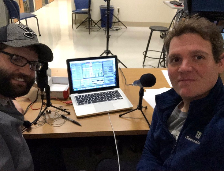 Teachers+Set+up+for+their+first+podcast