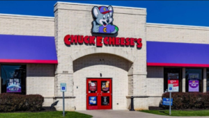 View outside of a Chuck E. Cheese's which is the topic of controversy about their pizza. Photo courtesy of Fox News