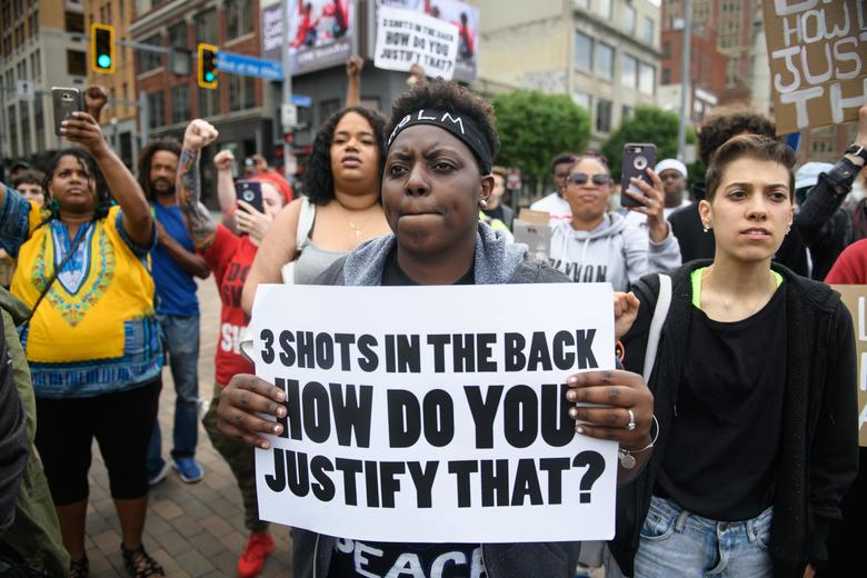 Chantel+Wilkerson%2C+24%2C+of+Braddock+Pennsylvania+protests+after+Antwon+Rose%27s+funeral.
