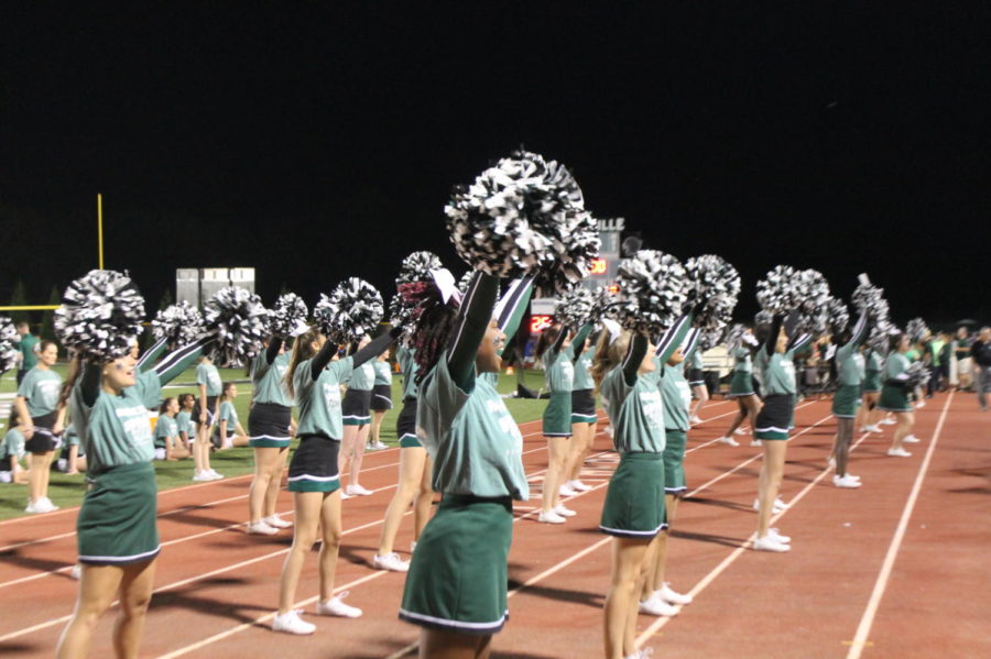 Cheerleaders+performed+several+times+at+the+game