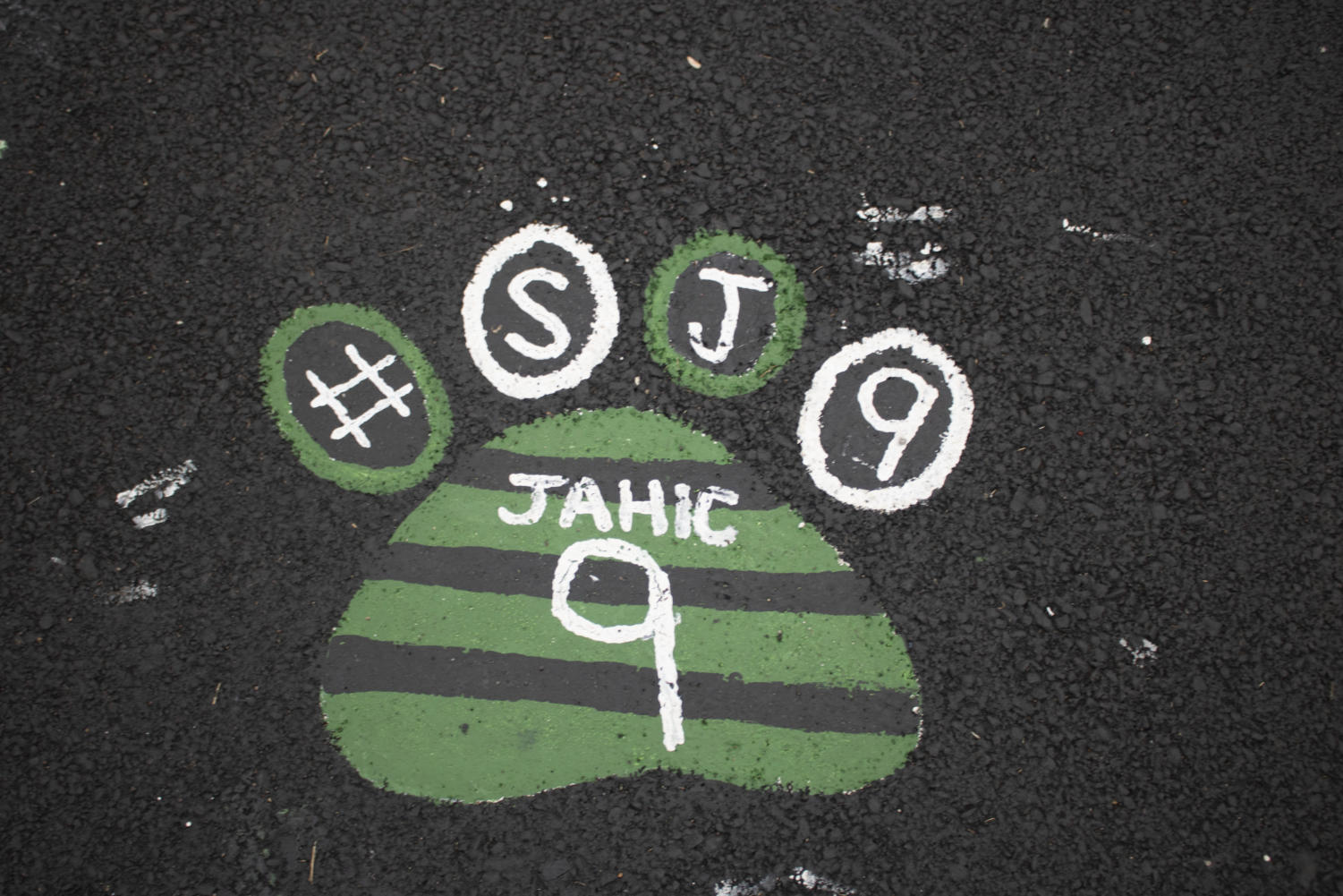 Senior Senad Jahic's paw print Photo by Kyle Becherer