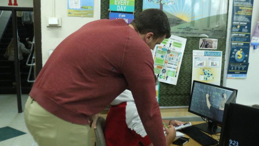 Mr. Schenck helping his TAP student