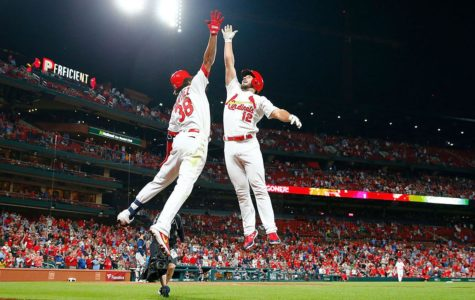 photo courtesy of: Sports illustrated, Paul Dejong jumping to celebrate with Jose Martinez