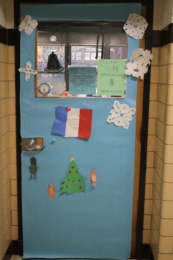 Stephen+Klobe%27s+door+was+on+theme+for+his+French+classroom.