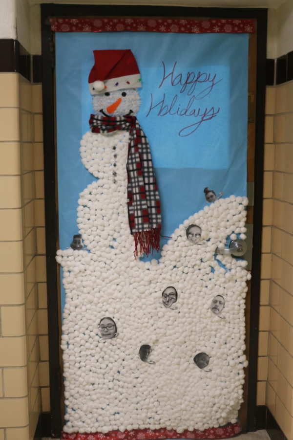 This door take us to a winter wonderland with frosty