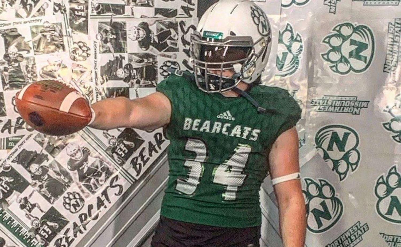 Charlie Galentine committed to Northwest Missouri State University to further kicking.