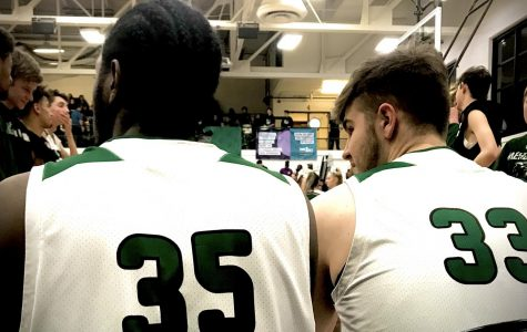 Lamontay Daughtery and Dylan Branson getting ready to get on the court. Lamontay (left) Dylan (right)