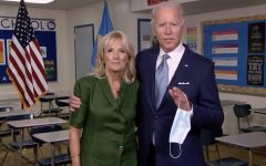 President Joe Biden and First Lady Dr. Jill Biden pictured on the livestream from the 2020 Democratic National Convention.