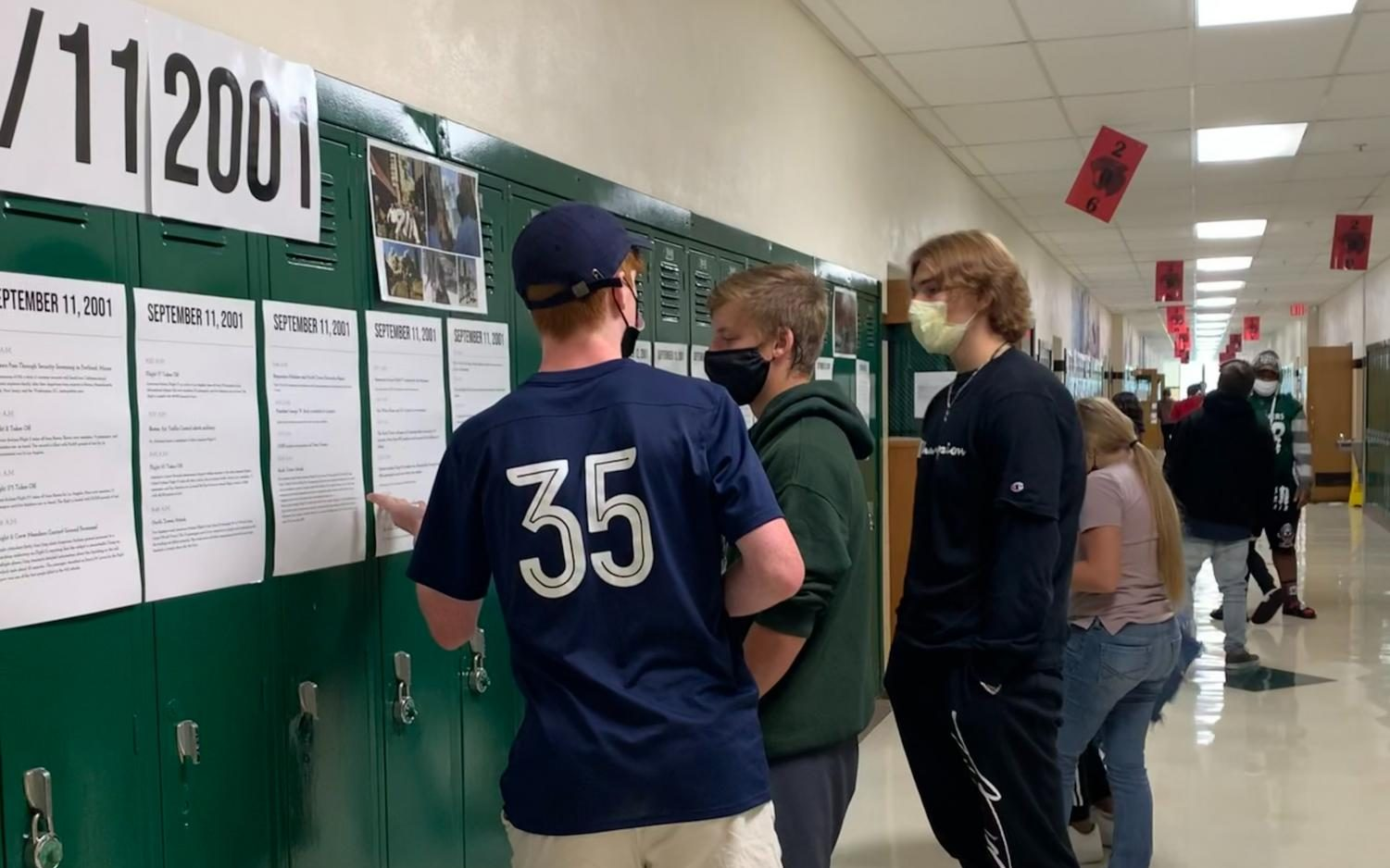 Mehlville Students discuss events on the 9/11 timeline.