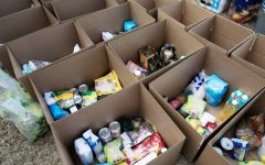Food donations are just one way local volunteers can help refugees.